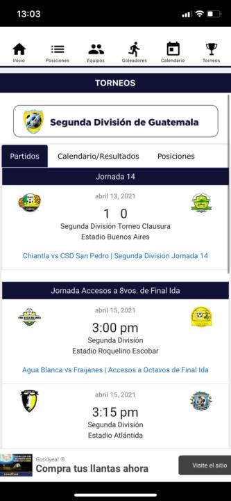 futbol chapin app6